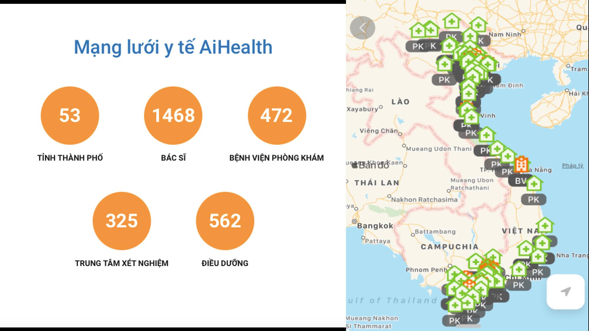Trải nghiệm dịch vụ đa dạng trên ứng dụng AiHealth