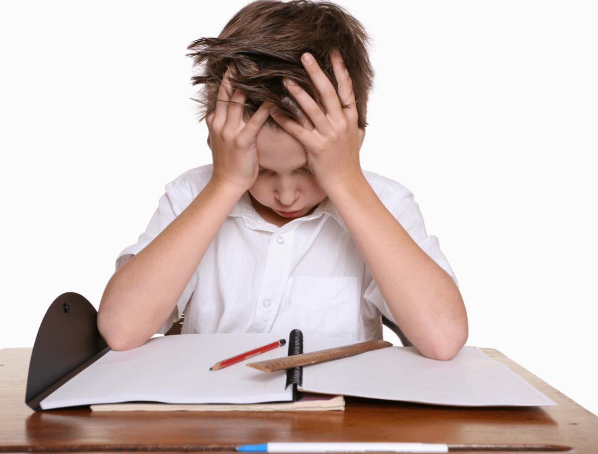 Tình trạng mất tập trung ở trẻ em khi mắc bệnh ADHD.