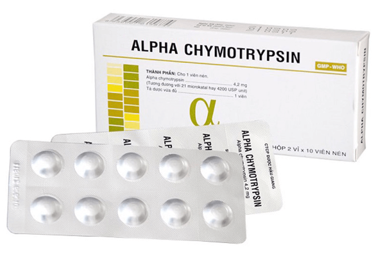 Chymotrypsin dùng cho đường uống và đường tiêm