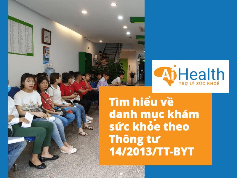 Khám sức khỏe theo thông tư 14/2013/TT-BYT