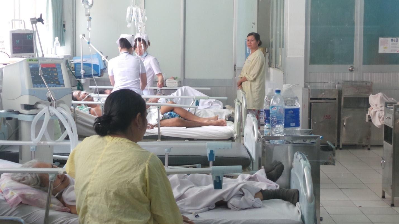 Bệnh nhân nằm viện nội trú ở Bệnh viện 115.