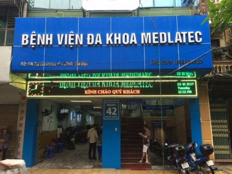 Cơ ngơi Bệnh viện đa khoa Medlatec.