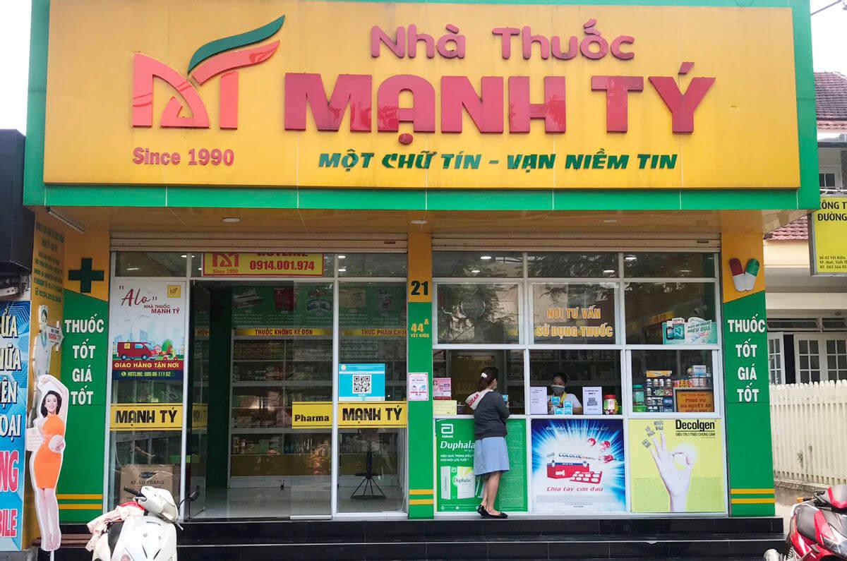 Nhà thuốc Mạnh Tý với thương hiệu lâu năm tại Huế