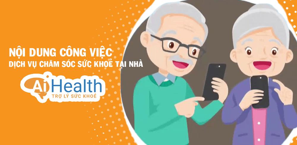 Công việc chăm sóc sức khỏe cho người già