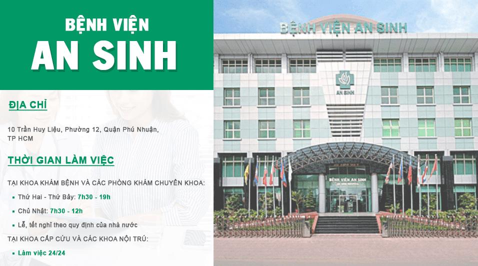 Địa chỉ và thời gian làm việc của bệnh viện An Sinh